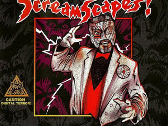 A CD of Dr. Blood's ScreamScapes near Dallas. Dr. Blood hosted the terror maze from 1996 to 1999.