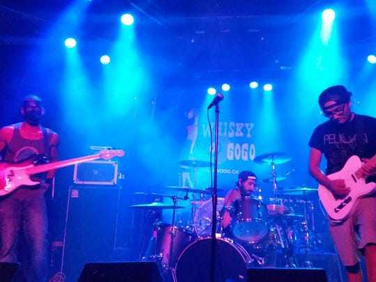 """Cinematica shot footage of its Sept. 8 gig at the Whisky a Go Go for use in the video for its new single """"Aquarius."""""""