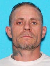 Michael Chad Sutherland, 45, of Allegan, is wanted on a federal arrest warrant.
