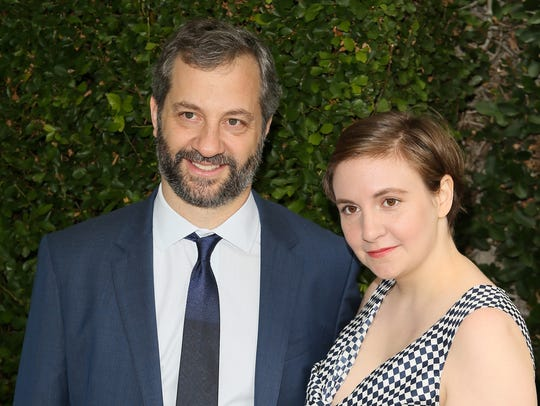 Judd Apatow and Lena Dunham at Rape Foundation's Annual