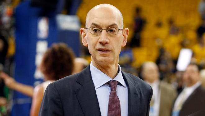 NBA commissioner Adam Silver before Game 2 of the 2017 NBA Finals.