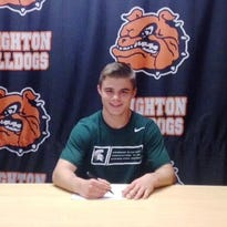 Brighton's Jackson Renicker signed his letter of intent on Wednesday to wrestle with Michigan State University.