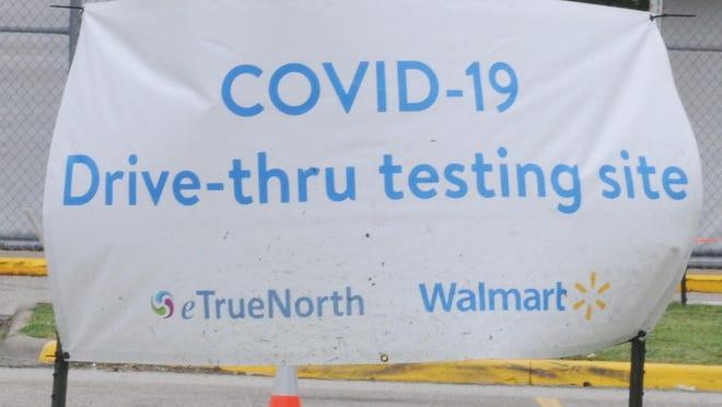 A COVID-19 testing site in Salina.