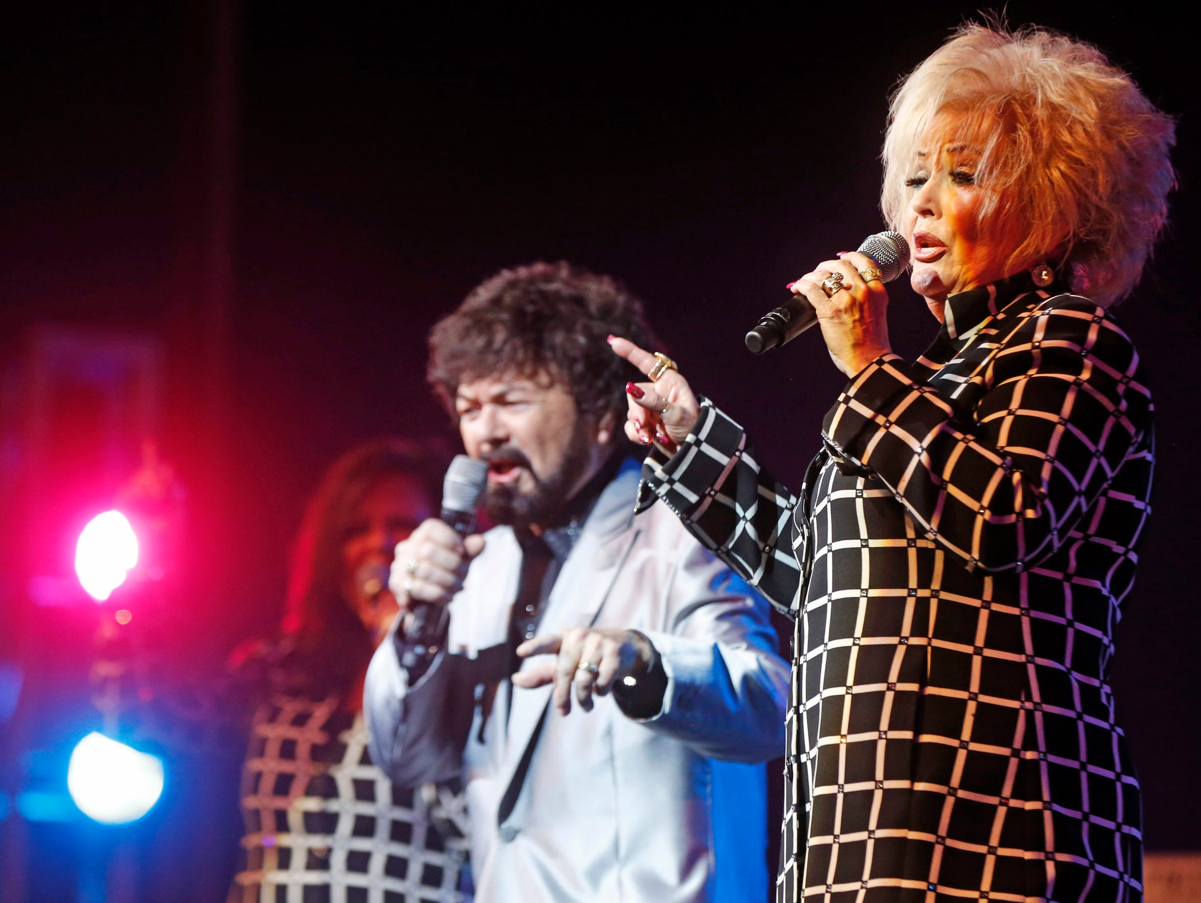 Donna Blackwood, right, performs with her husband R.W.