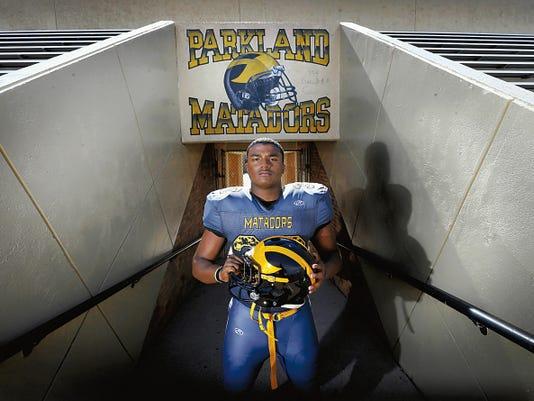 MARK LAMBIE—EL PASO TIMES  Parkland linebacker Christian Johnson will be a force for the Matadors this season.