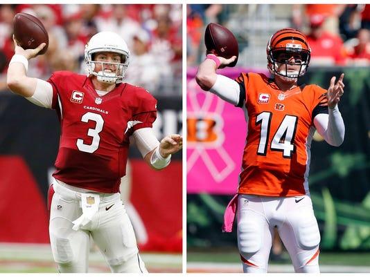 cb00b7e10a4 Bengals' Andy Dalton, Cardinals' Carson Palmer seek to shed playoff jinx