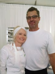 Chef Lulu Powers and Scott Robertson of New Leaf Catering.