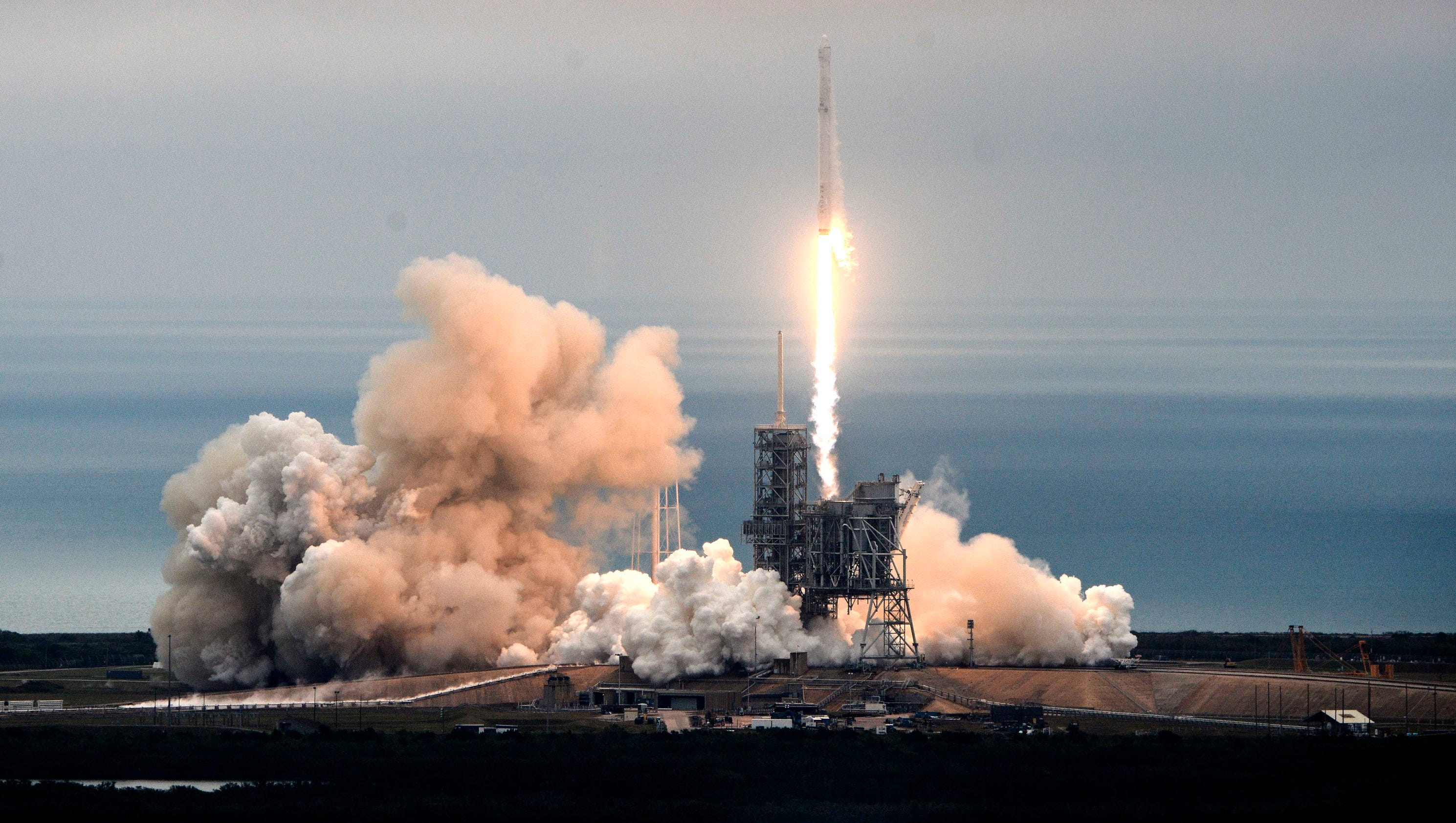 SpaceX Falcon 9 rocket launches from Cape Canaveral