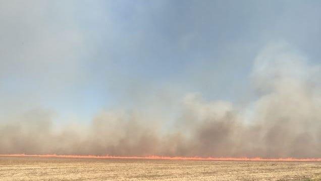 A fire burned 85 acres Monday near Vermillion.