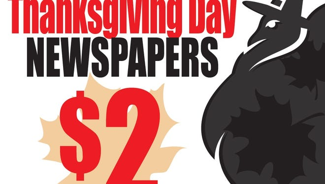 The News-Press will start selling its Thanksgiving Day newspaper on Wednesday afternoon.