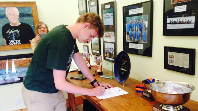 Roberson senior Jake Brock has signed to row in college for Jacksonville (Fla.).