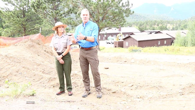 Secretary of the Interior Ryan Zinke visited Rocky Mountain National Park Sunday, Aug. 5, 2018 to talk about deferred maintenance in the park and support the Restore Our Parks Act in the Senate.