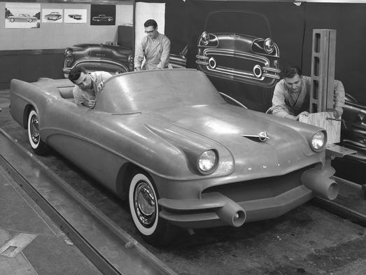 This 1954 photo Courtesy of General Motors shows Buick