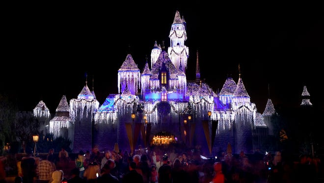 "HOLIDAYS AT THE DISNEYLAND RESORT (ANAHEIM, Calif.) – The Disneyland Resort is a magical place for creating holiday memories with family and friends. Holidays at the Disneyland Resort will run from Nov. 10, 2016, through Jan 8, 2017, with the new ""Festival of Holidays"" and new ""World of Color–Season of Light,"" plus guest favorites ""it's a small world"" and Haunted Mansion Holiday. Glistening Christmas trees and beautiful seasonal décor adorn the entire Disneyland Resort, and ""A Christmas Fantasy"" Parade is performed daily. (Paul Hiffmeyer/Disneyland Resort)"