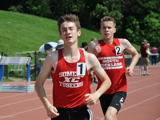 Somers' Greg Fusco leads North Rockand's Patrick Tuohy