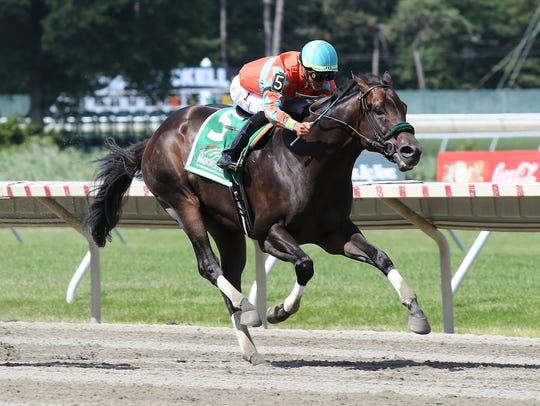 Name Changer, ridden by Jose Ortiz, won the $150,000 Grade III Monmouth Cup at Monmouth Park in Oceanport.