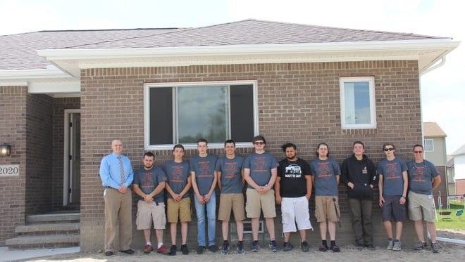 Construction Technology II students at the William D. Ford Career-Technical Center built a home again this year and recently hosted an open house.
