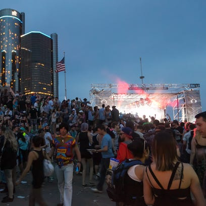 A scene from the 2015 Movement festival in downtown