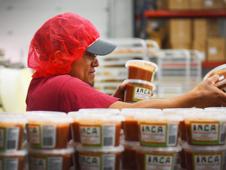 Miguel Jimenez makes Inca salsa Wednesday, Nov. 22,