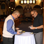 """Vibraphonist Dick Sisto and guitarist John Moulder present """"A Merton Birthday Celebration:  Memories and Music for a Spiritual Friend"""" in honor of Thomas Merton's 101st birthday at St. Paul's Episcopal Church in New Albany on Sunday.  January 31, 2016"""