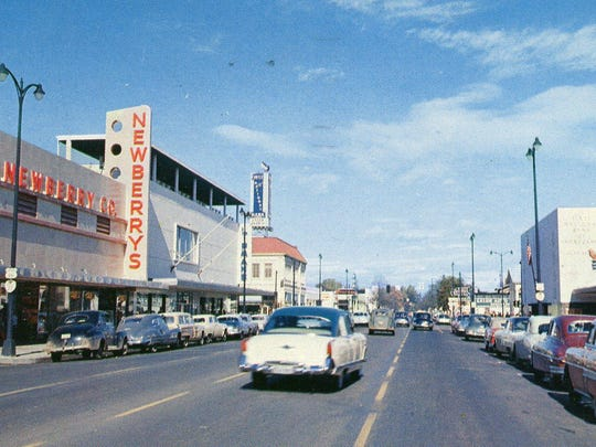 J.J. Newberry Co. can be seen on Liberty Street NE. The store was in downtown Salem from 1954-82.
