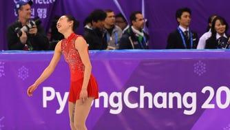 Mirai Nagasu (USA) competes in the women's free skate program.