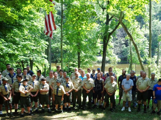 Boy Scout Troop 91 of South Amboy recognized its 100th anniversary on July 17 during its summer encampment at Camp Dill in Clinton Township. The event was attended by many former Troop 91 members and their families, in addition to the entire current troop membership and families.