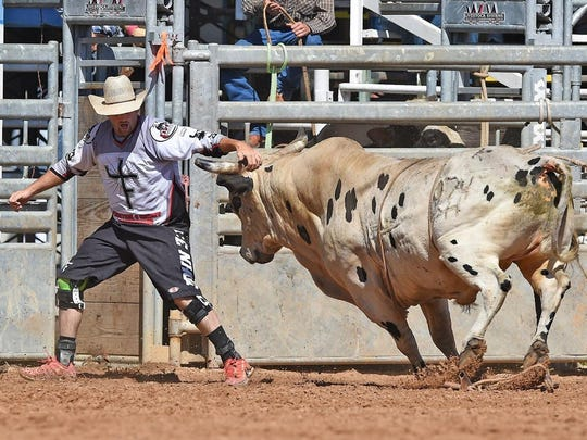 Bullfighter Stephen Bruner at the Indiantown Rodeo