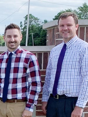 Nathan Wenger, left, and Troy Harms have changed locations within the Bank of Pontiac branches.