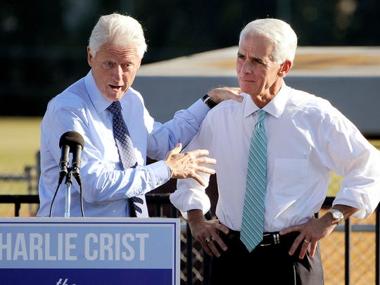 Former president Bill Clinton with Florida Democratic