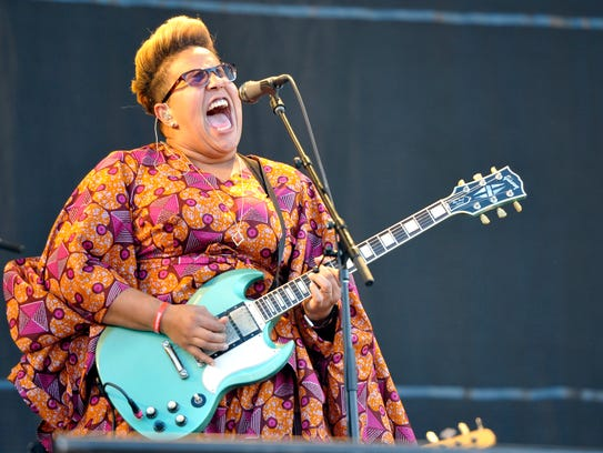 Brittany Howard of Alabama Shakes performs at Lollapalooza