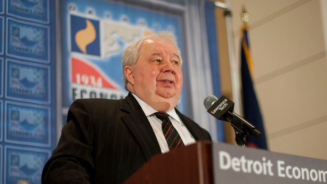 Russian Ambassador to the United States Sergey Kislyak gives remarks to the Detroit Economic Club at the Westin Book Cadillac on Thursday, Oct. 27, 2016.