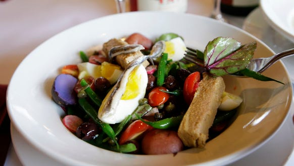 Nicoise is one of the salads to be served for lunch