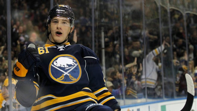 Nikita Zadorov played seven games with the Sabres last season (and scored 1 goal) but he hasn't been in the lineup yet this season.
