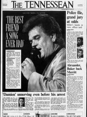 The story of Conway Twitty's death was on the front