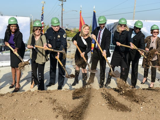 New MNPD and Family Justice Center groundbreaking on Oct. 27, 2016 on Murfreesboro Road.