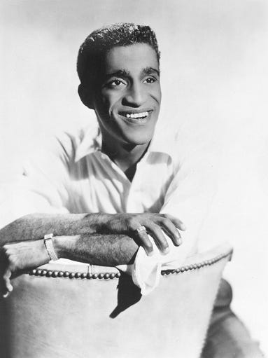 American entertainer Sammy Davis Jr. poses in this
