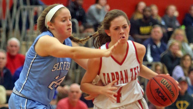 Suffern defeated Tappan Zee 55-51 in the championship game of the Tappan Zee Tip Off Tournament at Tappan Zee High School Dec. 5, 2015.