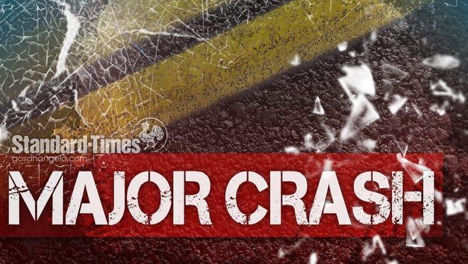 Major crash alert. Drivers: use caution