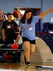 Amanda Granata of Florham Park bowls during the three-day