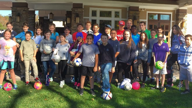 Fifth to eighth-grade students from the Ellison School in Vineland traveled to Eastlyn Golf Course on Oct. 23 for a round of FootGolf.