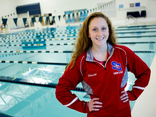 St. Clair High School senior Grace Shinske is the Times Herald Swimmer of the Year.