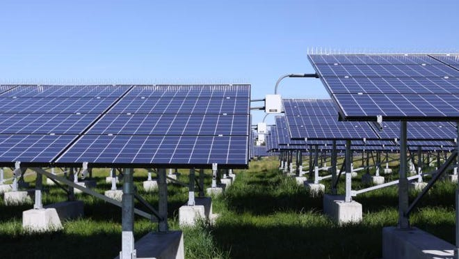 Solar power panels.