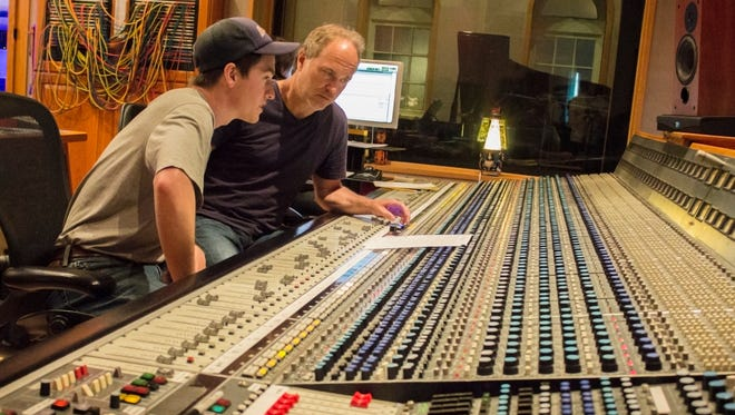 Wes-Tone works on his song with producer Ben Fowler in Nashville.