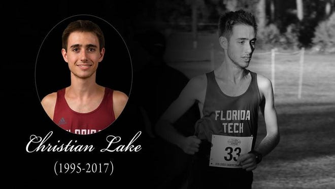 The Florida Institute of Technology paid tribute to student athlete Christian Lake, who died in a traffic crash Wednesday near Orlando.