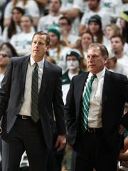 Dane Fife, left, joined Tom Izzo's staff in 2011 to