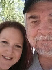 Chandler resident Sheri Malone with her late husband,