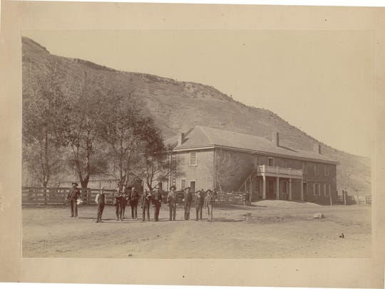 The Lincoln County courthouse circa 1885. Billy the