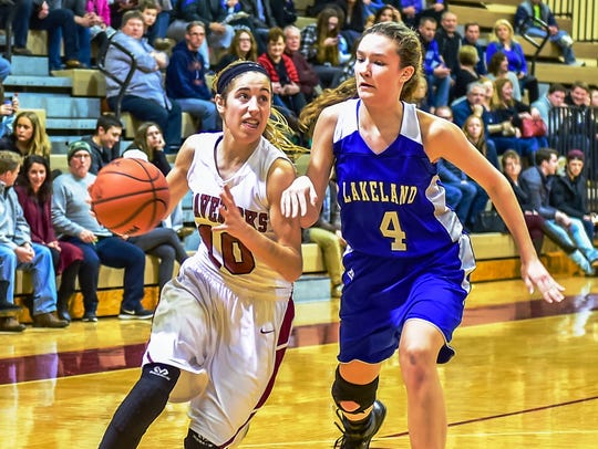 Mallory Barrett (left) was Milford's best basketball