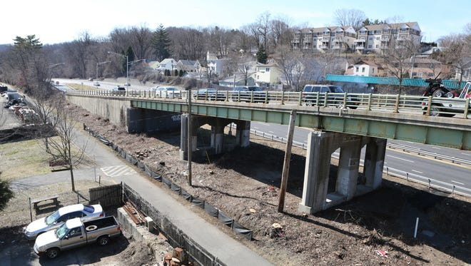 The north bound and south bound ramps at the Ashford Avenue bridge between Ardsley and Dobbs Ferry is pictured, March 1, 2016. The bridge is undergoing a $17.9 million project to fully rehabilitate the deteriorating bridge, March 1, 2016.